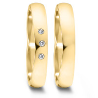 Partnerring  76080 GG 750 4 mm poliert 3x 0.012