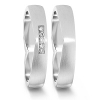 Partnerring  76059 WG 4mm mattiert 5x 0.008