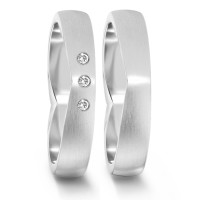 Partnerring  76081 WG 750 4 mm mattiert 3x 0.012